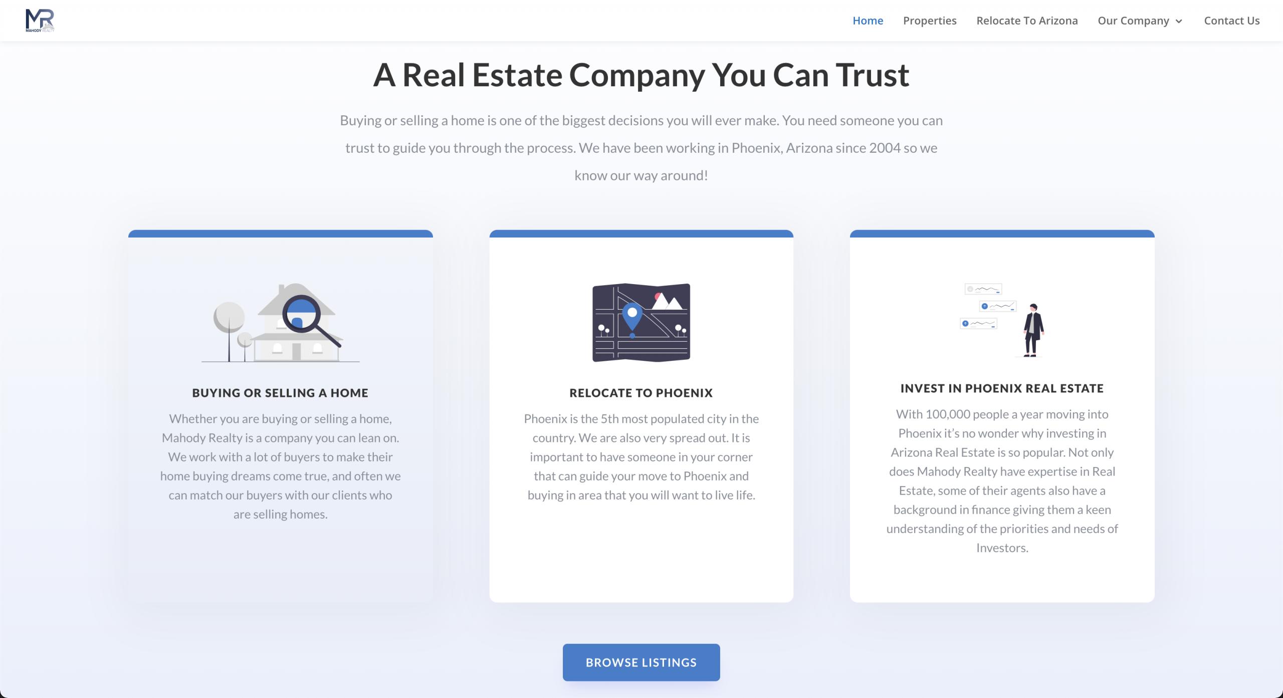 Mahody Realty Home Page